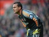 Hull City goalkeeper Steve Harper looks on during the Barclays Premier League match between Southampton and Hull City at St Mary's Stadium on November 9, 2013