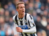 Luuk de Jong of Newcastle in action during the Barclays Premier League match between Newcastle United and Sunderland at St James' Park on February 1, 2014