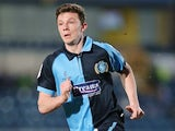Wycombe's Matt McClure in action against Northampton during their League 2 match on April 16, 2013