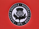 A dugout with the Partick Thistle badge on, photographed on August August 2, 2013