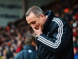 Rene Meulensteen manager of Fulham looks thoughtful prior to the FA Cup with Budweiser fourth round match between Sheffield United and Fulham at Bramall Lane on January 26, 2014