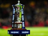The Six Nations trophy before the RBS Six Nations match between Wales and Italy at the Millennium stadium on February 1, 2014