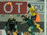 Sochaux' Zambian defender Stoppila Sunzu scores a goal against Nantes during the French L1 football match on February 1, 2014