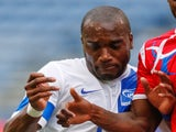 Sylvain Babin of Martinique (L) dribbles against Cecilio Waterman #11 of Panama at CenturyLink Field on July 11, 2013