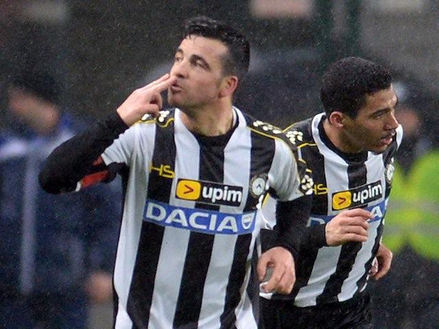 Result: Advantage Udinese in Coppa Italia semi