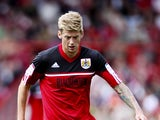 Jon Stead of Bristol in action during the npower Championship match between Bristol City and Blackburn Rovers at the Ashton Gate Stadium on September 15, 2012