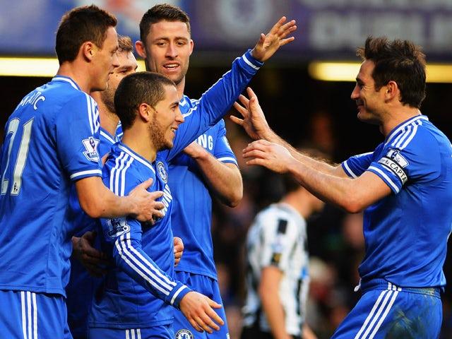 Result: Hazard hat-trick inspires Chelsea to top spot