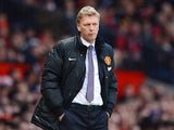 Man United manager David Moyes on the touchline during his team's Premier League match against Fulham on February 9, 2014