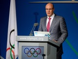 Winter Olympics Sochi 2014 President Dmitry Chernyshenko delivers a speech during the reports of the Coordination Commission during the International Olympic Committe's 125th Session, in Buenos Aires, on September 8, 2013