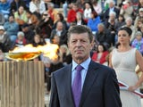 Deputy Prime Minister of the Russian Federation, Mr Dmitry Kozak attends during the Olympic Torch Handover Ceremony, on October 05, 2013