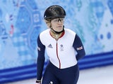 Short track speed skater Elise Christie of Great Britain practices at the Iceberg Skating Palace on February 6, 2014
