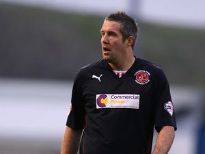 Jon Parkin of Fleetwood Town in action during the Sky Bet League Two match between Northampton Town and Fleetwood Town at Sixfields Stadium on November 16, 2013