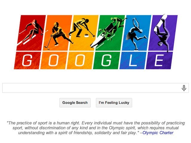 Google's Winter Olympics themed homepage to mark the opening of the Sochi Games on February 7, 2014.