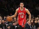 John Jenkins #12 of the Atlanta Hawks in action against New York Knicks on April 17, 2013