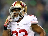 San Francisco 49ers' LaMichael James in action against Seattle Seahawks on January 19, 2014