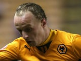 Leigh Griffiths of Wolves controls the ball during the FA Cup First Round Replay match between Wolverhampton Wanderers and Oldham Athletic on November 19, 2013