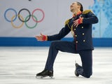 Russia's Maxim Trankov performs the Figure Skating Pairs Team Short Program at the Iceberg Skating Palace during the Sochi Winter Olympics on February 6, 2014