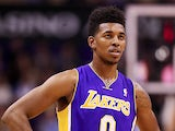 Nick Young #0 of the Los Angeles Lakers in action against Phoenix Suns on December 23, 2013