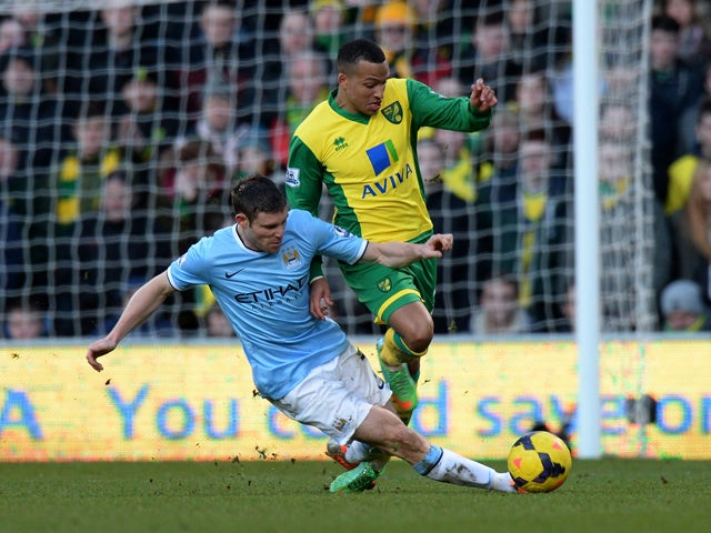 Result: Man City slip up at Norwich