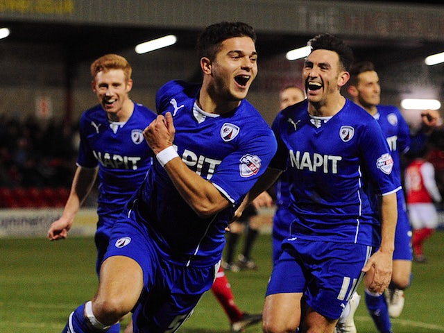 Result: O'Shea strikes late for Chesterfield