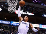 Shawn Marion #0 of the Dallas Mavericks dunks against Milwaukee Bucks on December 14, 2013