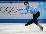 Japan's Yuzuru Hanyu performs in the Men's Figure Skating Team Short Program during the Sochi Winter Olympics on February 6, 2014