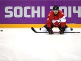 Drew Doughty #8 of Canada looks on prior to the Men's Ice Hockey Preliminary Round Group B game against Norway on day six of the Sochi 2014 Winter Olympics at Bolshoy Ice Dome on February 13, 2014