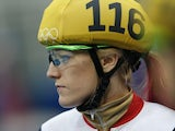 Great Britain's Elise Christie is pictured before she competes in the Women's Short Track 1500 m Heats at the Iceberg Skating Palace during the Sochi Winter Olympics on February 15, 2014
