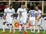 Mauro Icardi of FC Internazionale Milano celebrates after scoring a goal during the Serie A match between ACF Fiorentina and FC Internazionale Milano at Stadio Artemio Franchi on February 15, 2014