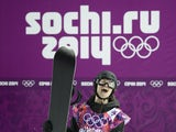 Gold Medallist, Switzerland's Iouri Podladtchikov celebrates in the Men's Snowboard Halfpipe Final at the Rosa Khutor Extreme Park during the Sochi Winter Olympics on February 11, 2014