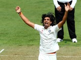 Ishant Sharma of India appeals unsuccessfully for a wicket during day one of the 2nd Test match between New Zealand and India on February 14, 2014