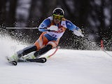 Norway's Kjetil Jansrud competes during the Men's Alpine Skiing Super Combined Slalom at the Rosa Khutor Alpine Center during the Sochi Winter Olympics on February 14, 2014