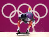 Kristan Bromley of Great Britain in action during a Men's Skeleton training session on Day 3 of the Sochi 2014 Winter Olympics at the Sanki Sliding Center on February 10, 2014