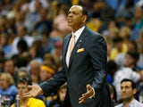 Head coach Lionel Hollins of the Memphis Grizzlies reacts in the first half while taking on the San Antonio Spurs during Game Four of the Western Conference Finals on May 27, 2013