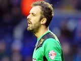 Manuel Almunia of Watford during the Sky Bet Championship match between Leicester City and Watford at The King Power Stadium on February 08, 2014