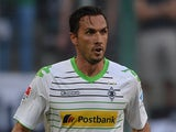 Moenchengladbach's Austrian defender Martin Stranzl plays the ball during the German first division Bundesliga football match against Hanover 96 on August 17, 2013