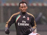 Michael Essien of AC Milan during warms up during the Serie A match between AC Milan and Torino FC at San Siro Stadium on February 1, 2014
