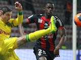 Nantes' US midfielder Alejandro Bedoya kicks the ball during the French L1 football match between OGC Nice (OGCN) and FC Nantes (FCN) on February 15, 2014