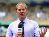 Sky Sports commentator Shane Warne ahead of day four of the First Ashes Test match between Australia and England at The Gabba on November 24, 2013