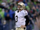 Shayne Graham #3 of the New Orleans Saints reacts against Seattle Seahawks on January 11, 2014