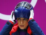 Shelley Rudman of Great Britain prepares to make a run during a Women's Skeleton training session on Day 3 of the Sochi 2014 Winter Olympics on February 10, 2014