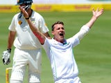 Dale Steyn of South Africa appeals during day one of the First Test match between South Africa and Australia at SuperSport Park on February 12, 2014