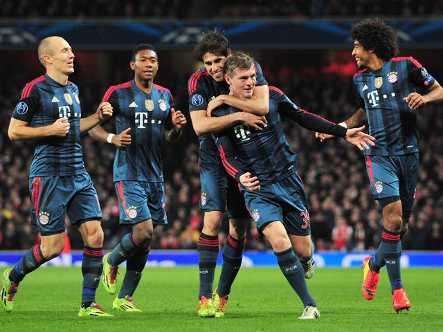 Result: Bayern beat 10-man Arsenal