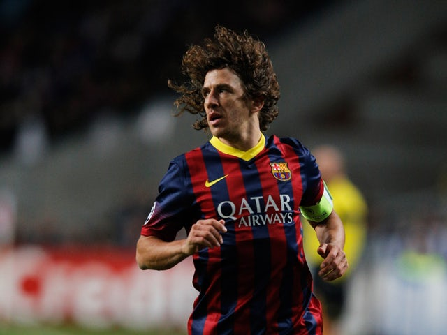 Carlos Puyol of Barcelona in action during the UEFA Champions League Group H match between Ajax Amsterdam and FC Barcelona at Amsterdam Arena on November 26, 2013