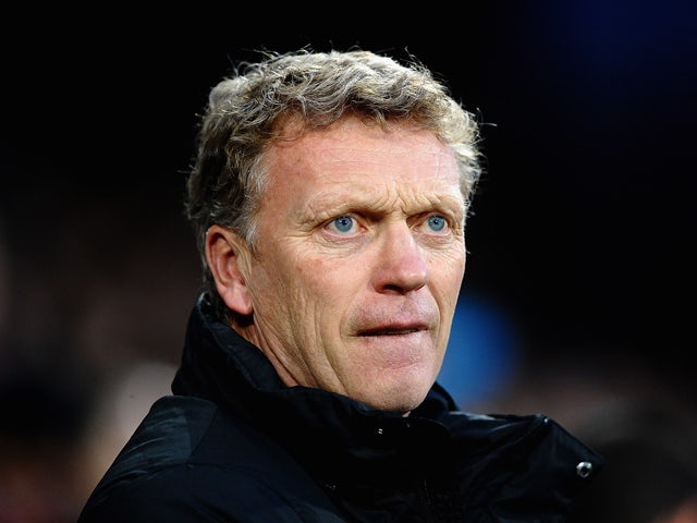 David Moyes the Manchester United manager looks on prior to kickoff during the Barclays Premier League match between Crystal Palace and Manchester United at Selhurst Park on February 22, 2014