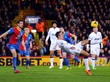 Robin van Persie of Manchester United attempts an overhead kick on goal during the Barclays Premier League match between Crystal Palace and Manchester United at Selhurst Park on February 22, 2014