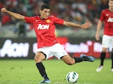 Davide Petrucci of Manchester United in action during the MTN Football Invitational match between Amazulu and Manchester United at Moses Mabhida Stadium on July 18, 2012