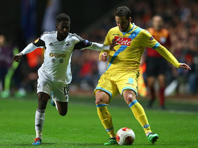 Result: Swansea, Napoli play out draw