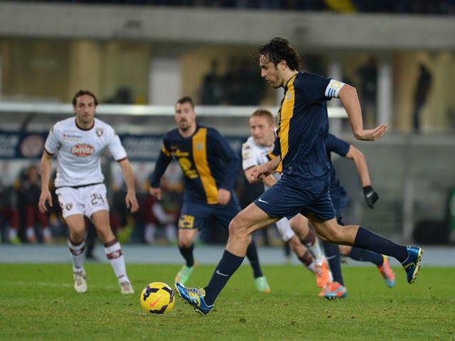 Result: Verona held by 10-man Bologna