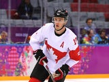 Jonathan Toews #16 of Canada skates during warmups prior to the Men's Ice Hockey Quarterfinal Playoff against Latvia on Day 12 of the 2014 Sochi Winter Olympics at Bolshoy Ice Dome on February 19, 2014